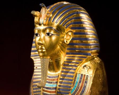 replica of the mask of tut ankh amon Stok Fotoğraf - 23000005
