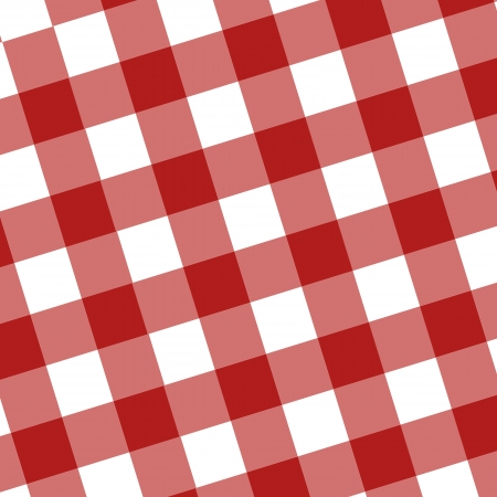 red picnic cloth with some squares in it photo