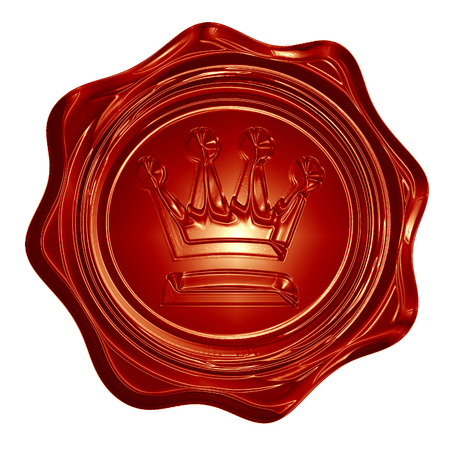 royal wax seal with a crown on it photo