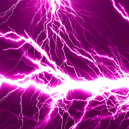 electrocute: electrical sparks on a dark pink background