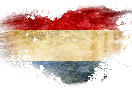 Dutch flag  with some grunge effects and lines photo