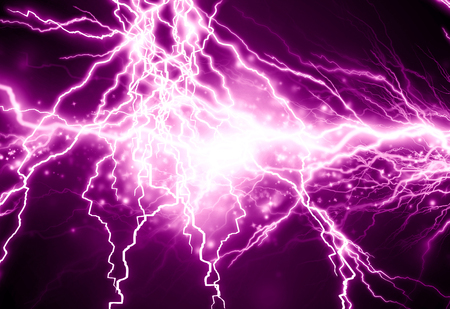 discharges: electrical sparks on a dark pink background