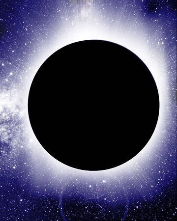 total solar eclipse on a dark background Stock Photo