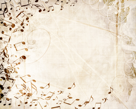 cool background: grunge paper texture with some music notes on it