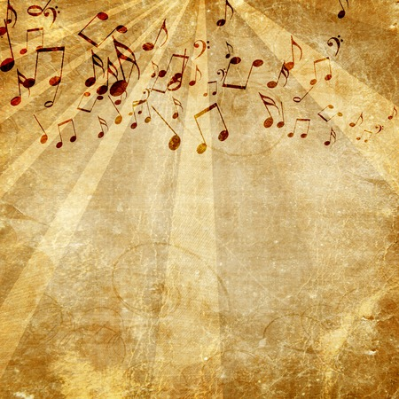 music note: old paper texture with some music notes on it