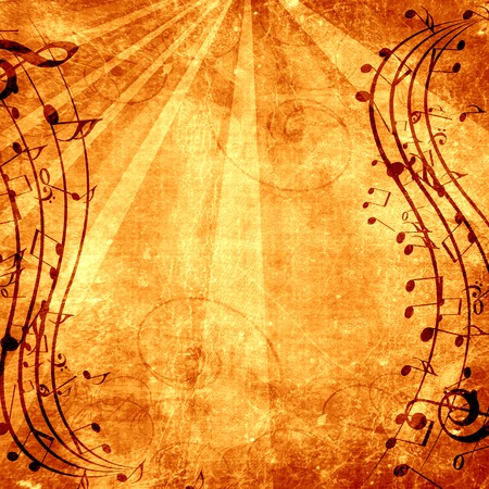 old paper texture with some music notes on it photo