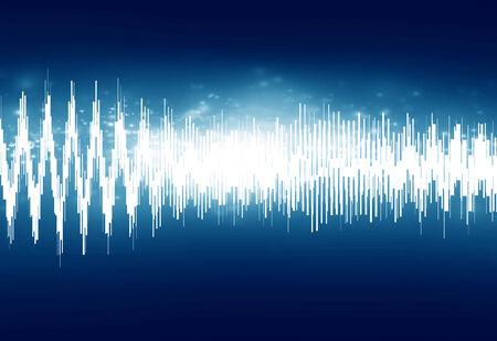 bright sound wave on a dark blue background Stock Photo - 26392703