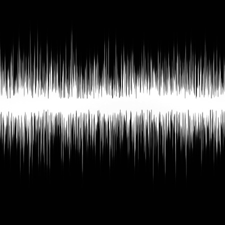 sound wave on a dark black background Stock Photo - 26393128