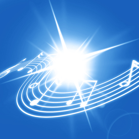 sol: soft blue background with some music notes on it