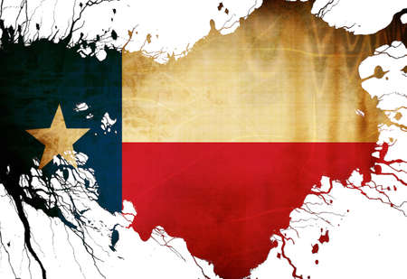 texan: Texan flag  with some grunge effects and lines