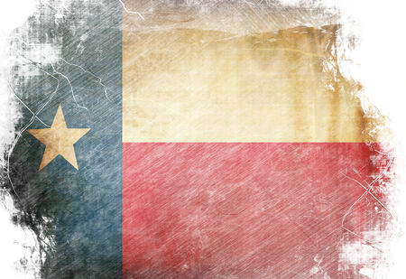 texan: Texan flag waving in the wind with some spots and stains