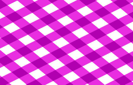pink picnic cloth with some squares in it photo