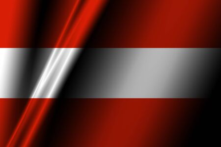 austrian: Austrian flag with some soft highlights and folds Stock Photo