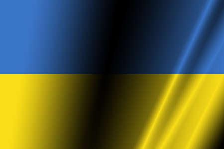 ukraine flag: Ukraine flag with some soft highlights and folds