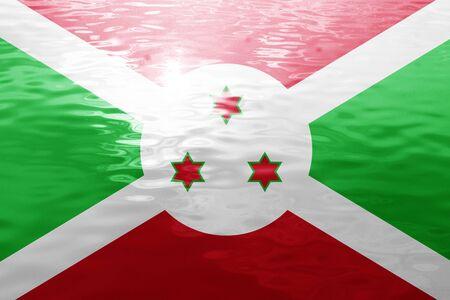 burundi: Burundi flag with some soft highlights and folds