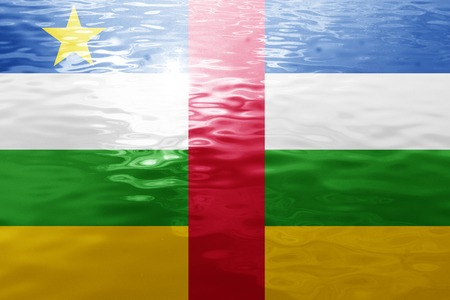 central african republic: Central african republic flag with some soft highlights and folds