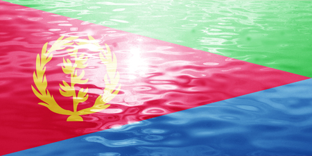 eritrea: Eritrea flag with some soft highlights and folds