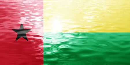 bissau: Guinea bissau flag with some soft highlights and folds