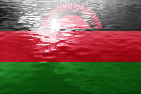 malawi: Malawi flag with some soft highlights and folds