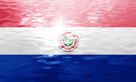 bandera de paraguay: bandera de Paraguay con algunos toques de luz y suaves pliegues