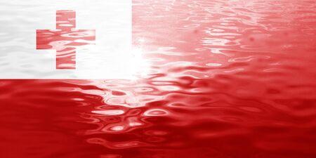 tonga: Tonga flag with some soft highlights and folds