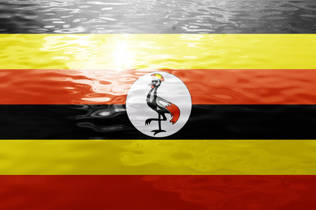 ugandan: Uganda flag with some soft highlights and folds