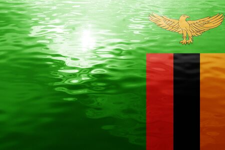 zambia flag: Zambia flag with some soft highlights and folds
