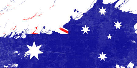 australian culture: Australia flag with some soft highlights and folds
