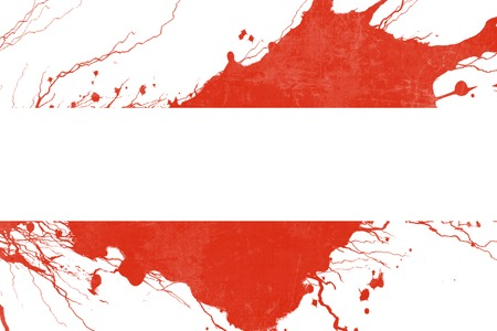 folds: Austrian flag with some soft highlights and folds Stock Photo
