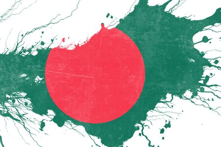 folds: Bangladesh flag with some soft highlights and folds