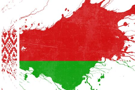 folds: Belarus flag with some soft highlights and folds