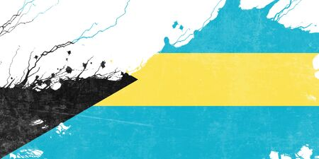 folds: Bahamas flag with some soft highlights and folds