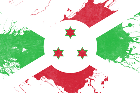 folds: Burundi flag with some soft highlights and folds