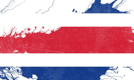 folds: Costa Rica flag with some soft highlights and folds