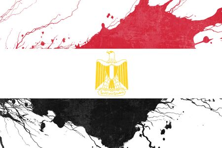 folds: Egypt flag with some soft highlights and folds