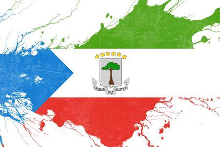 folds: Equatorial guinea flag with some soft highlights and folds