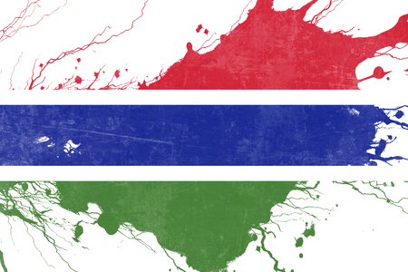 folds: Gambia flag with some soft highlights and folds