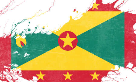 grenada: Grenada flag with some soft highlights and folds