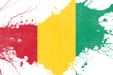 folds: Guinea flag with some soft highlights and folds