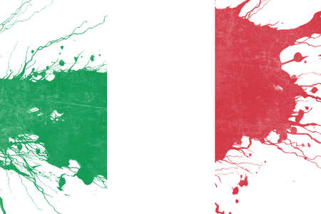 folds: Italy flag with some soft highlights and folds