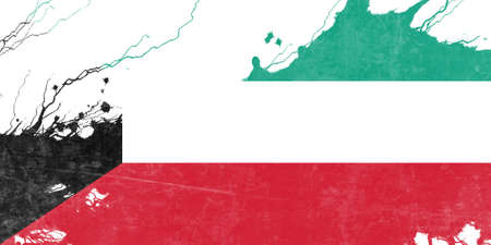 folds: Kuwait flag with some soft highlights and folds