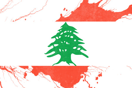 folds: Lebanon flag with some soft highlights and folds