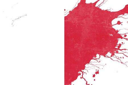folds: Malta flag with some soft highlights and folds