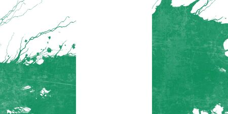 folds: Nigeria flag with some soft highlights and folds