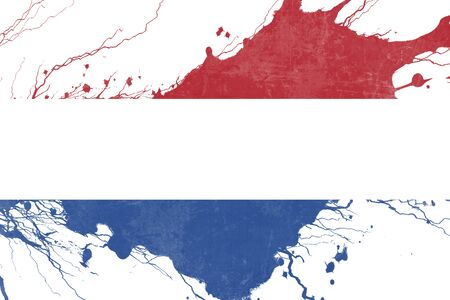 folds: Netherlands flag with some soft highlights and folds