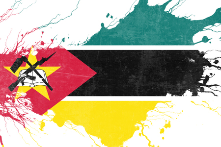 folds: Mozambique flag with some soft highlights and folds