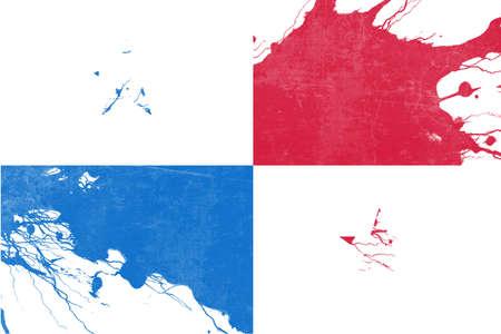bandera de panama: bandera de Panamá con algunos puntos culminantes suaves y pliegues Foto de archivo