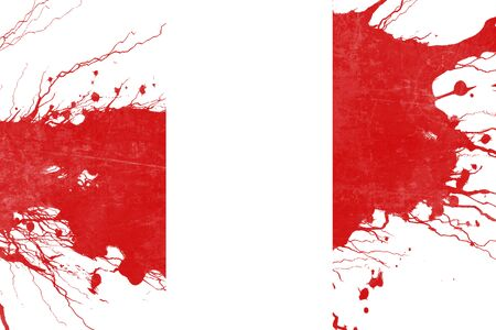 folds: Peru flag with some soft highlights and folds