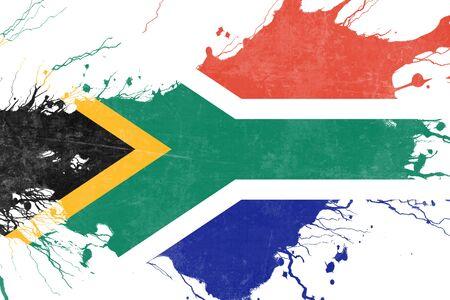 drapeau de l'afrique du sud avec quelques reflets doux et plis