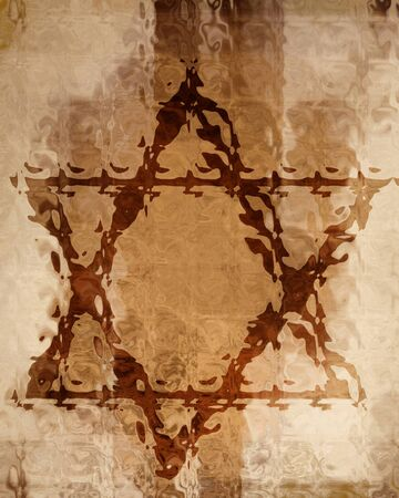 david brown: star of david on a paper background